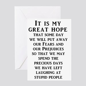Our Great Hope Stupid People Funny T Greeting Card