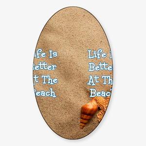 Beach Life Sticker (Oval)