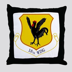 18th Wing Throw Pillow
