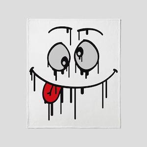 crazy_graffiti_face Throw Blanket