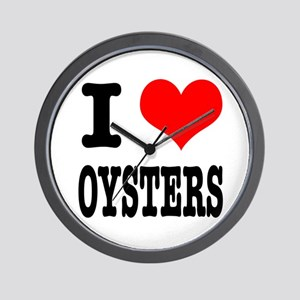 I Heart (Love) Oysters Wall Clock