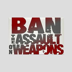 Ban Assault Weapons Rectangle Magnet