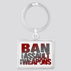 Ban Assault Weapons Landscape Keychain