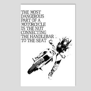 Dangerous Nut Dirt Bike M Postcards (Package of 8)