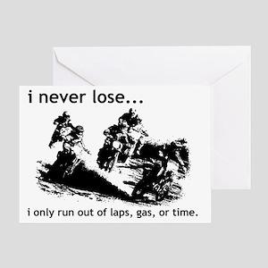 I Never Lose Dirt Bike Motocross Fun Greeting Card