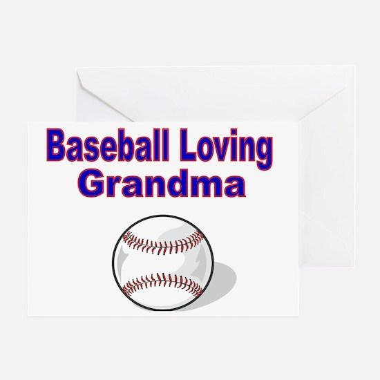 Baseball Loving Grandma Greeting Card