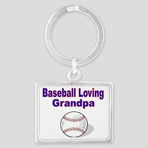 Baseball Loving Grandpa Landscape Keychain