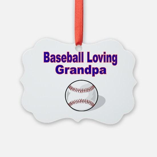 Baseball Loving Grandpa Ornament