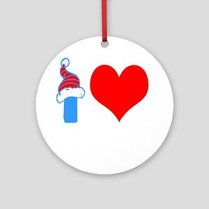 I Love Bocce Ball Design Round Ornament
