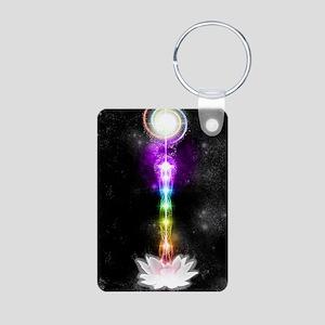 Sacred self Aluminum Photo Keychain