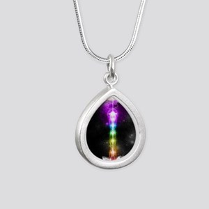 Sacred self Silver Teardrop Necklace