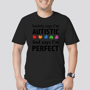 autismGodPerf1A Men's Fitted T-Shirt (dark)