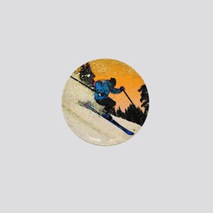 skier1 Mini Button