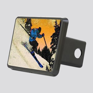 skier1 Rectangular Hitch Cover