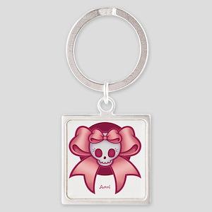 skull-cross-bow-T Square Keychain