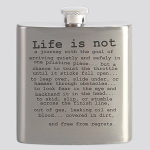 Life Is Not Dirt Bike Motocross Shirt Flask