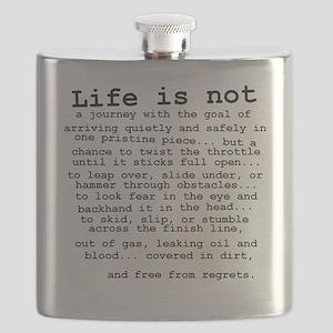 Life Is Not Dirt Bike Motocross Shirt Flask