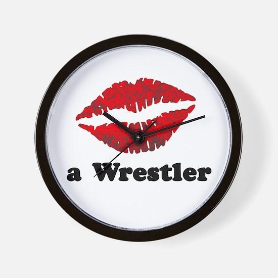 Kiss a Wrestler Wall Clock
