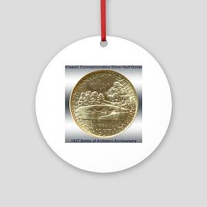 Battle of Antietam Half Dollar Coin Round Ornament
