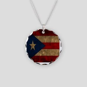 Puerto Rico Necklace Circle Charm