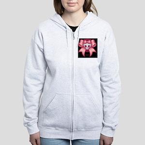 skull-cross-bow-OV Women's Zip Hoodie