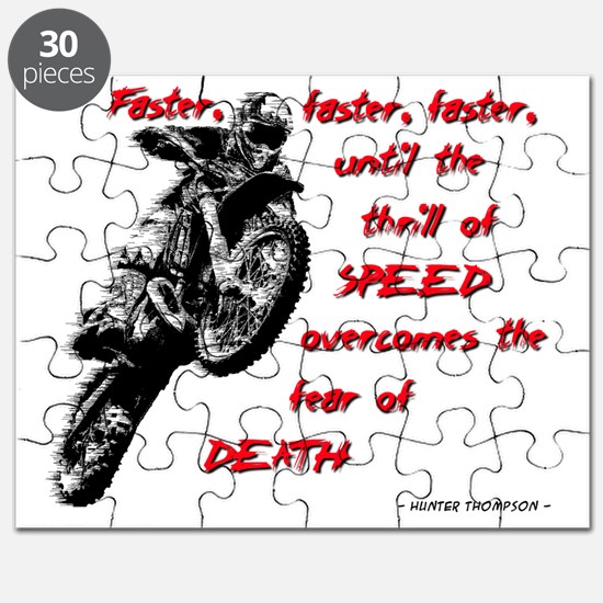 Faster Dirt Bike Motocross Quote Saying Puzzle