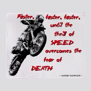 Faster Dirt Bike Motocross Quote Say Throw Blanket