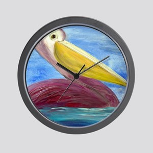Pretty Pelican Wall Clock