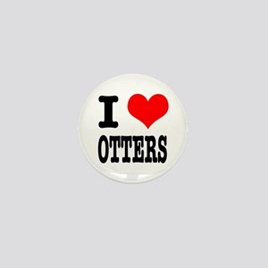 I Heart (Love) Otters Mini Button
