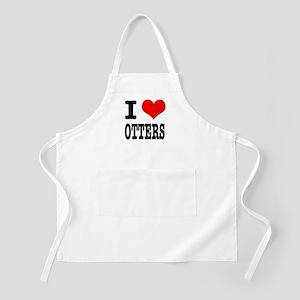 I Heart (Love) Otters BBQ Apron