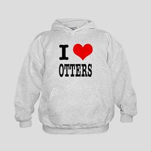 I Heart (Love) Otters Kids Hoodie
