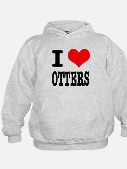 I Heart (Love) Otters Hoodie