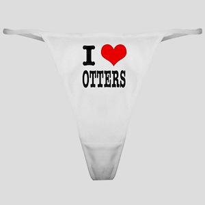 I Heart (Love) Otters Classic Thong