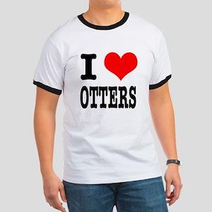 I Heart (Love) Otters Ringer T