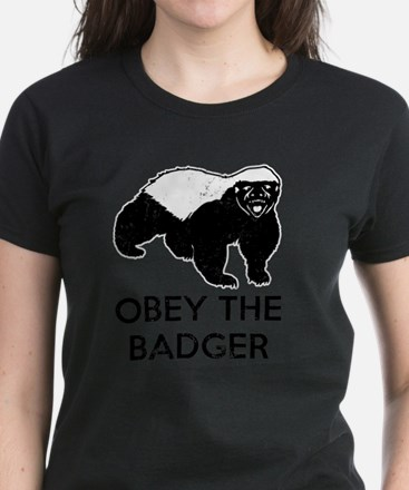 Obey The Badger Women's Dark T-Shirt