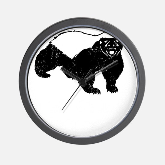 Honey Badger Is Just Crazy Wall Clock