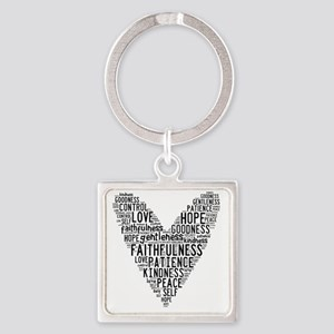 Fruit of the Spirit Square Keychain