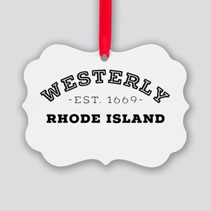 Westerly Rhode Island Picture Ornament