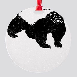 Honey Badger Takes Whats He Wants Round Ornament