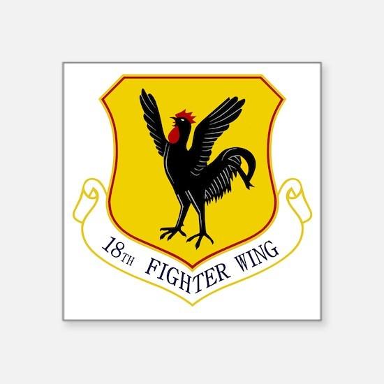 "18th Fighter Wing Square Sticker 3"" x 3"""