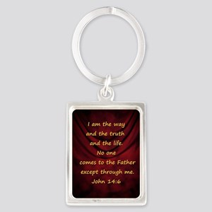 I am the way Portrait Keychain