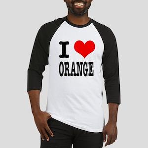 I Heart (Love) Orange Baseball Jersey