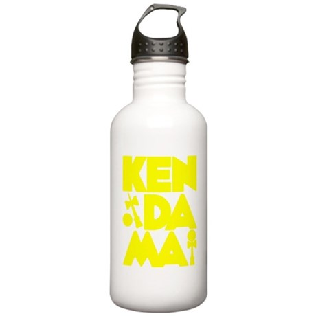 yellow Cubed Kendama 2 Stainless Water Bottle 1.0L