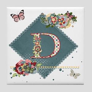 Dreamland Monogram D Tile Coaster