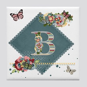 Dreamland Monogram B Tile Coaster