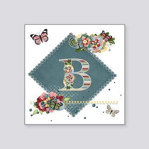 "Dreamland Monogram B Square Sticker 3"" x 3"""