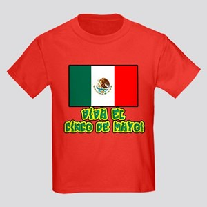 Viva Cinco de Mayo Kids Dark T-Shirt