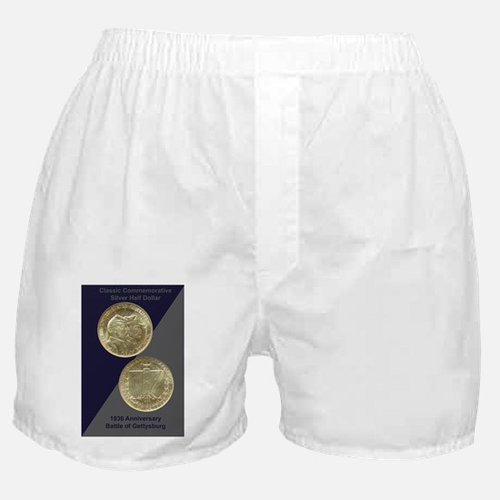 Battle of Gettysburg Half Dollar Coin Boxer Shorts