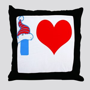 I Love Down Hill Skiing Throw Pillow