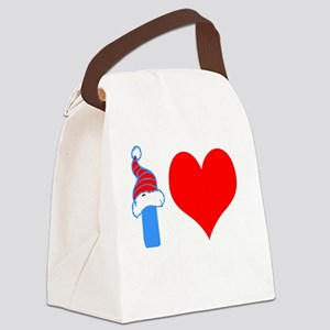 I Love Down Hill Skiing Canvas Lunch Bag